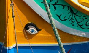 Luzzu boat eye